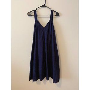 COS Navy A-line Shoulder-strap Dress